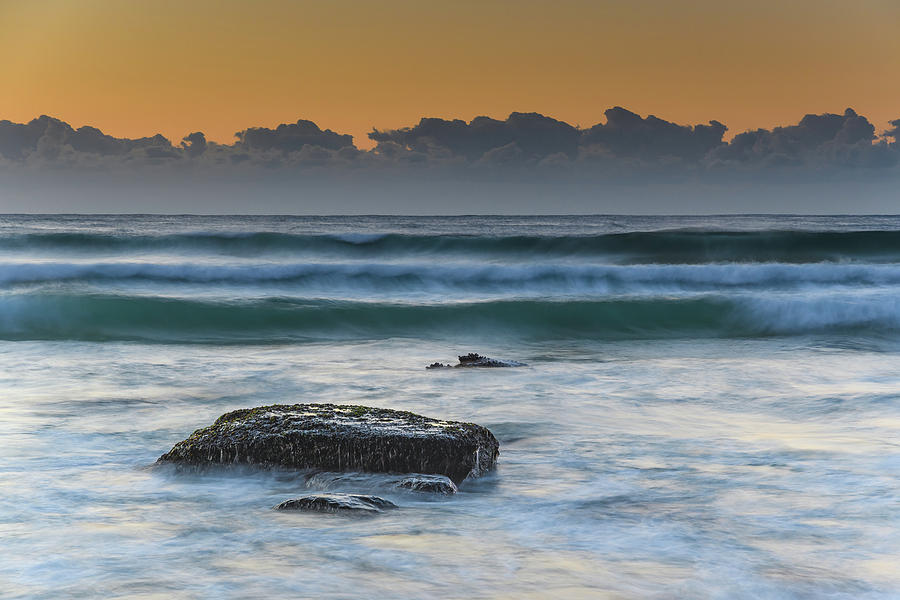 Australia Photograph - Waves Rolling In At Sunrise by Merrillie Redden