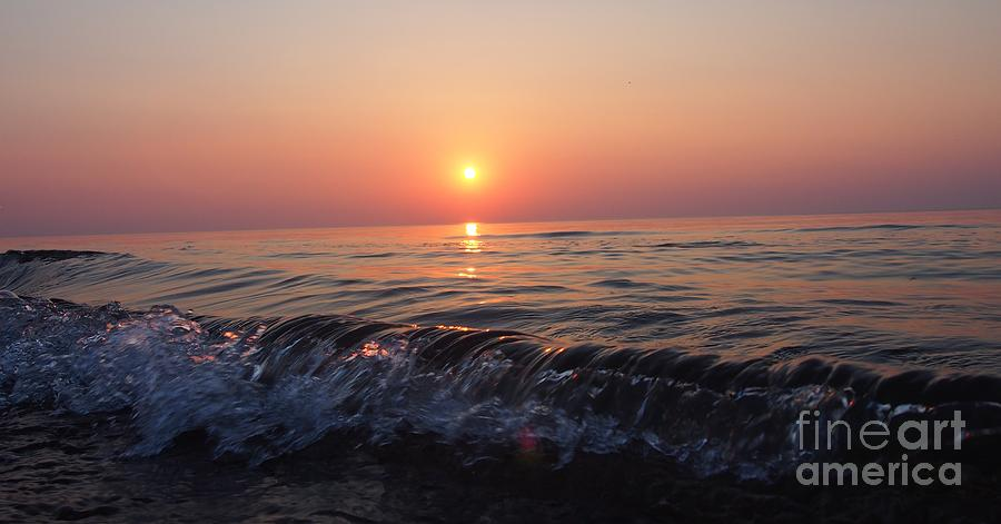 Indiana Photograph - Waves by Sarah  Mitcheltree