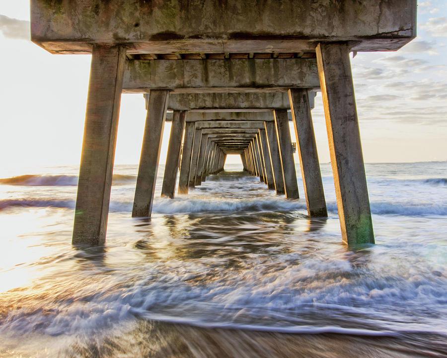 Waves Under the Pier by Angel Sharum