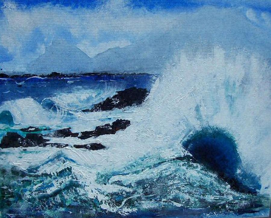 Waves Painting - Waves by Valerie Wolf