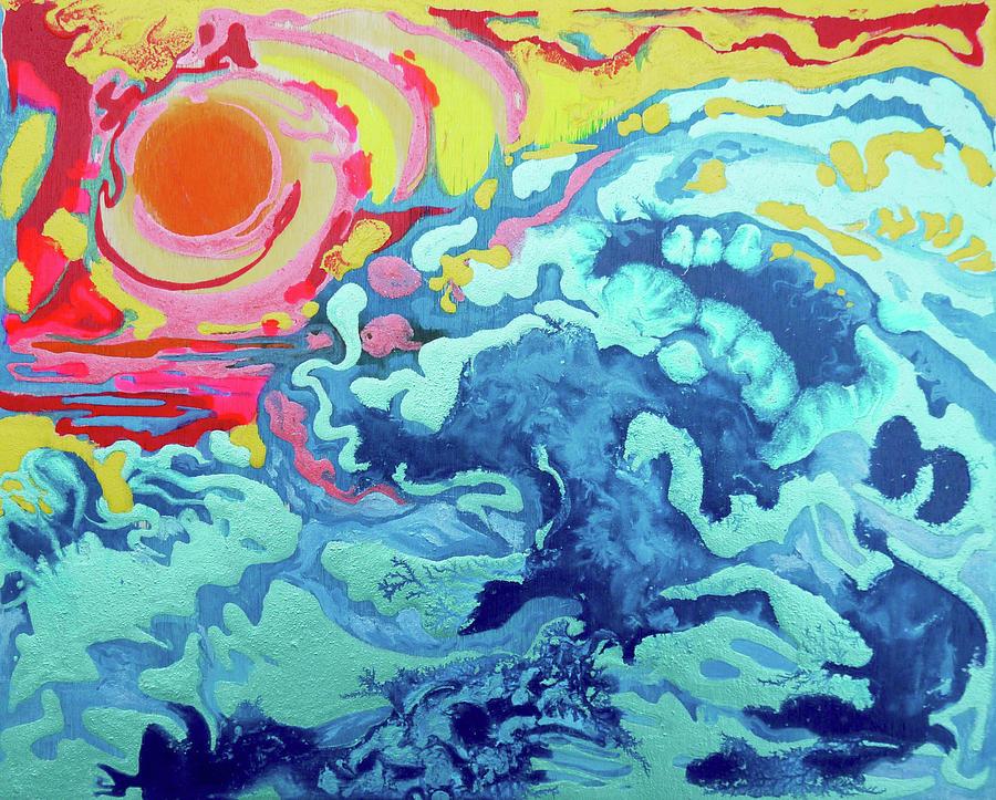 Sunset Painting - Wavesetting #2 by Joseph Demaree