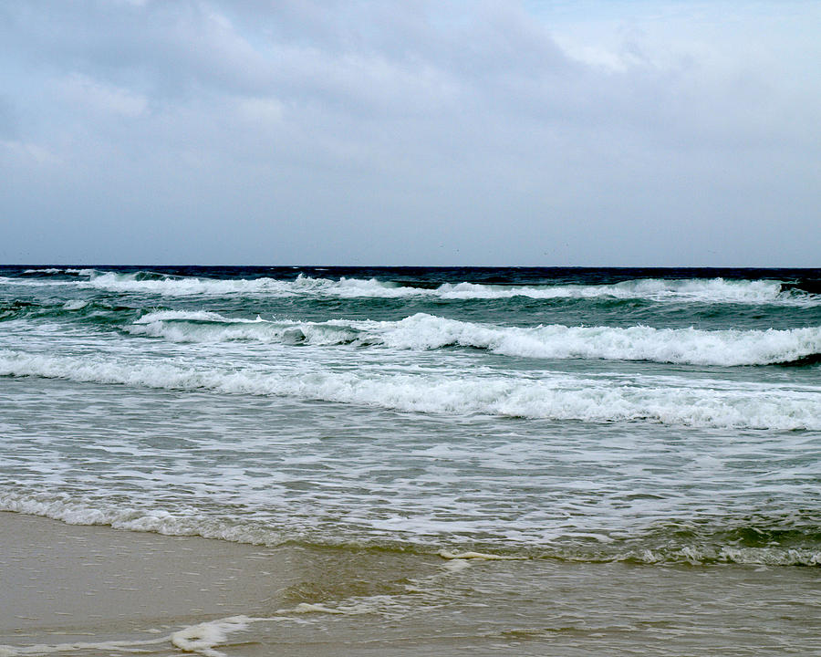 Landscape Photograph - Waving At Pensacola Beach by Connie Diane Richards