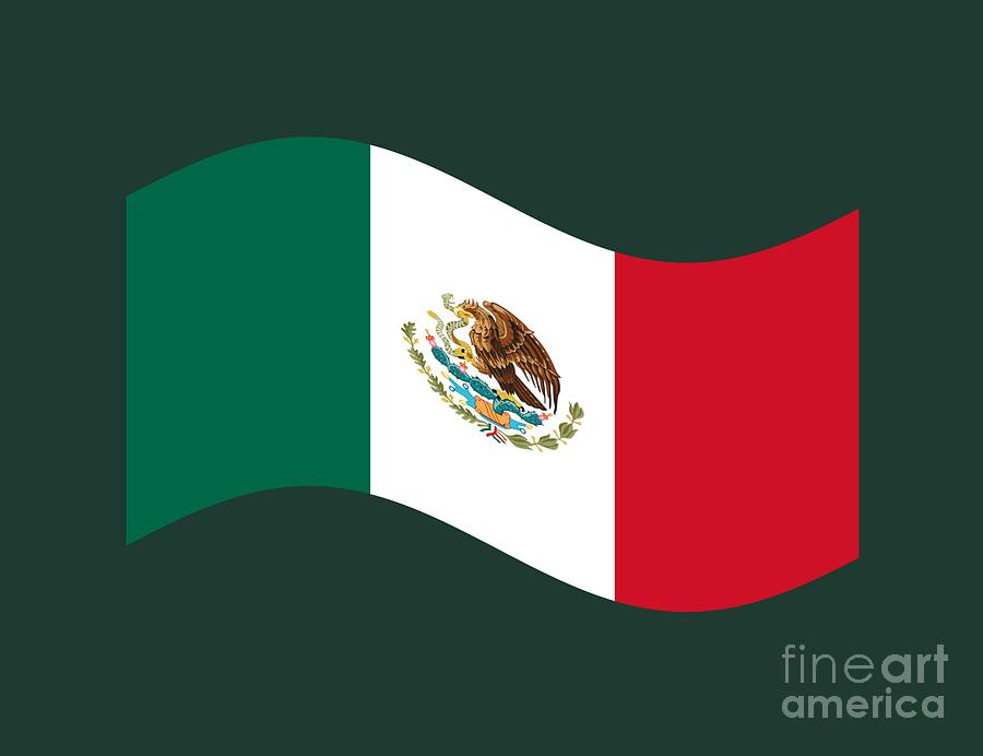 how to draw the mexican flag