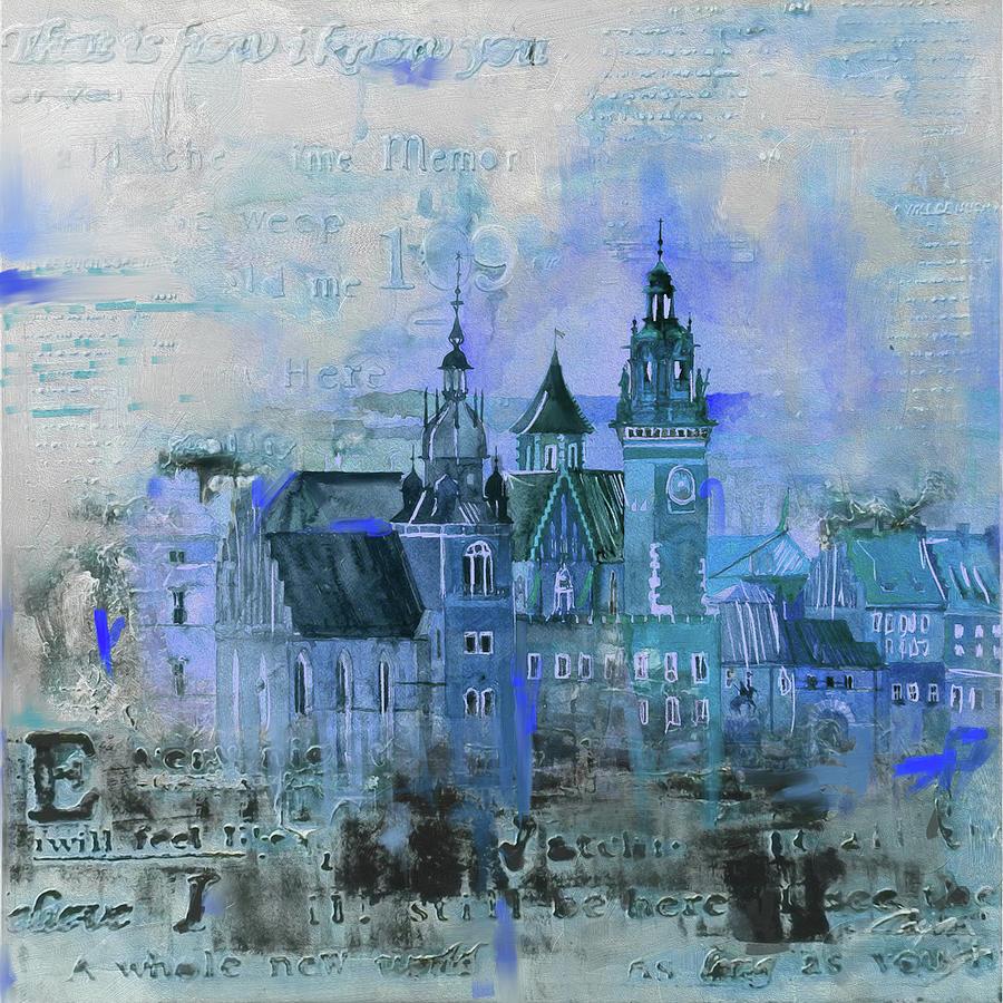 Wawel Castle Painting - Wawell Castle, Poland by Mawra Tahreem
