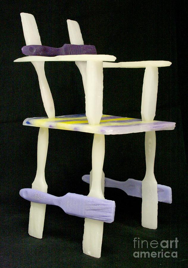 Sculpture. Wax Sculpture - Wax Chair by Karen  Peterson