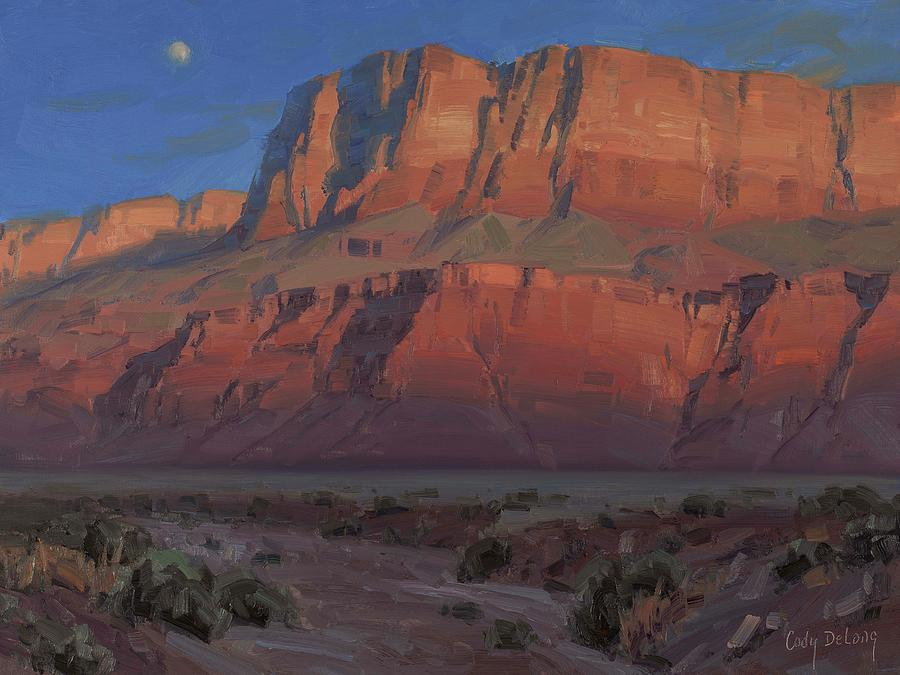 Waxing Moon Painting