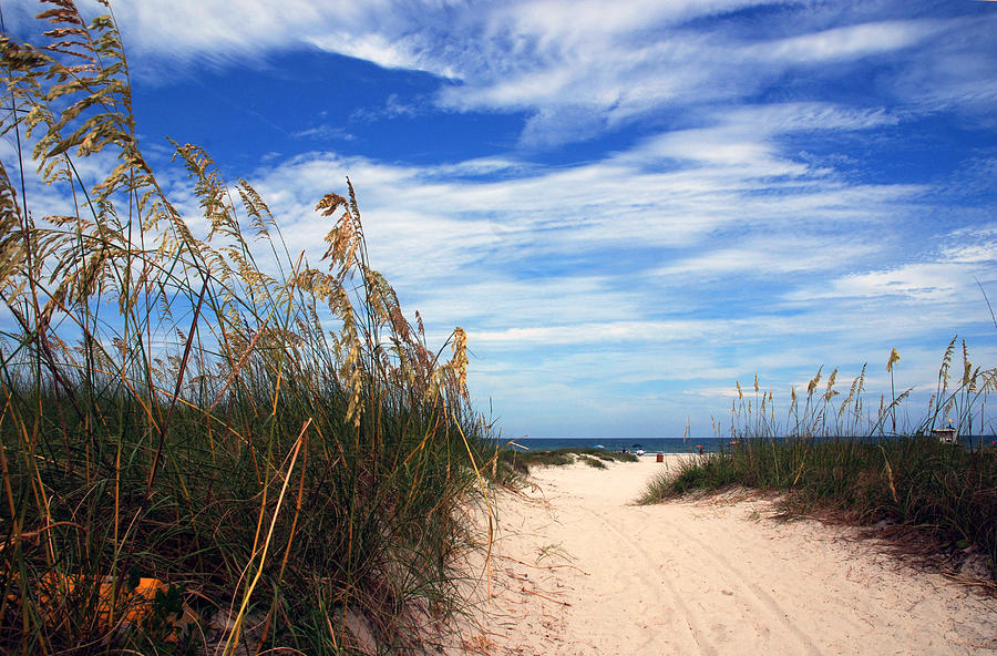 Beach Photograph - Way Out To The Beach by Susanne Van Hulst