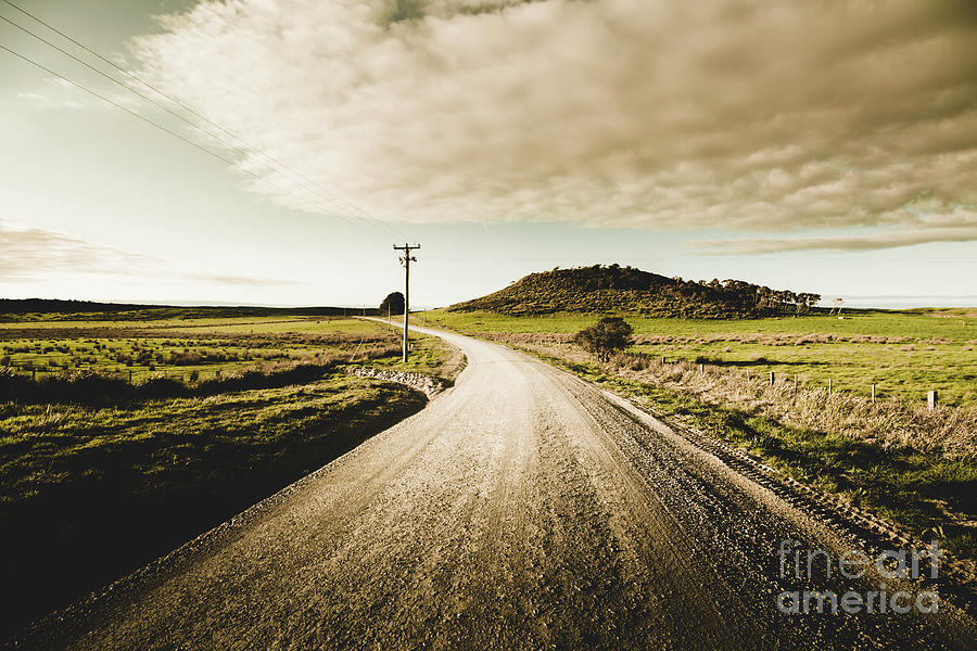 Road Photograph - Way Out Yonder by Jorgo Photography - Wall Art Gallery
