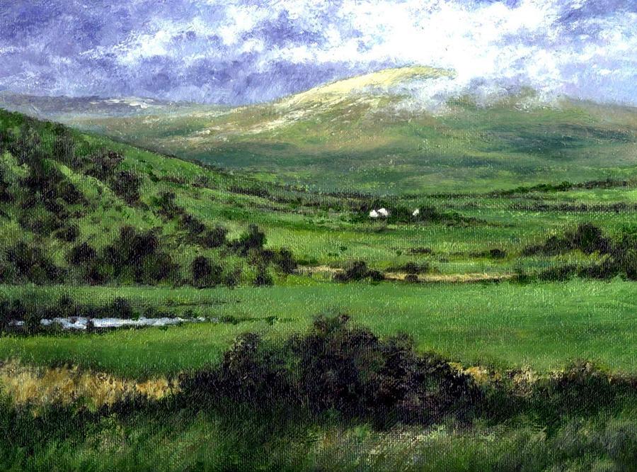 Ireland Painting - Way to Ardara Ireland by Jim Gola