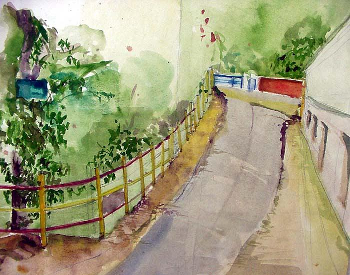 Way To Park Painting by Manish Kalavadiya