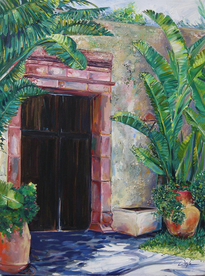 Building Painting - Way to the Beach by Karen Doyle