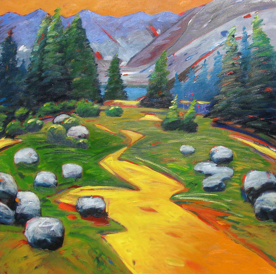 Way To The Lake Painting