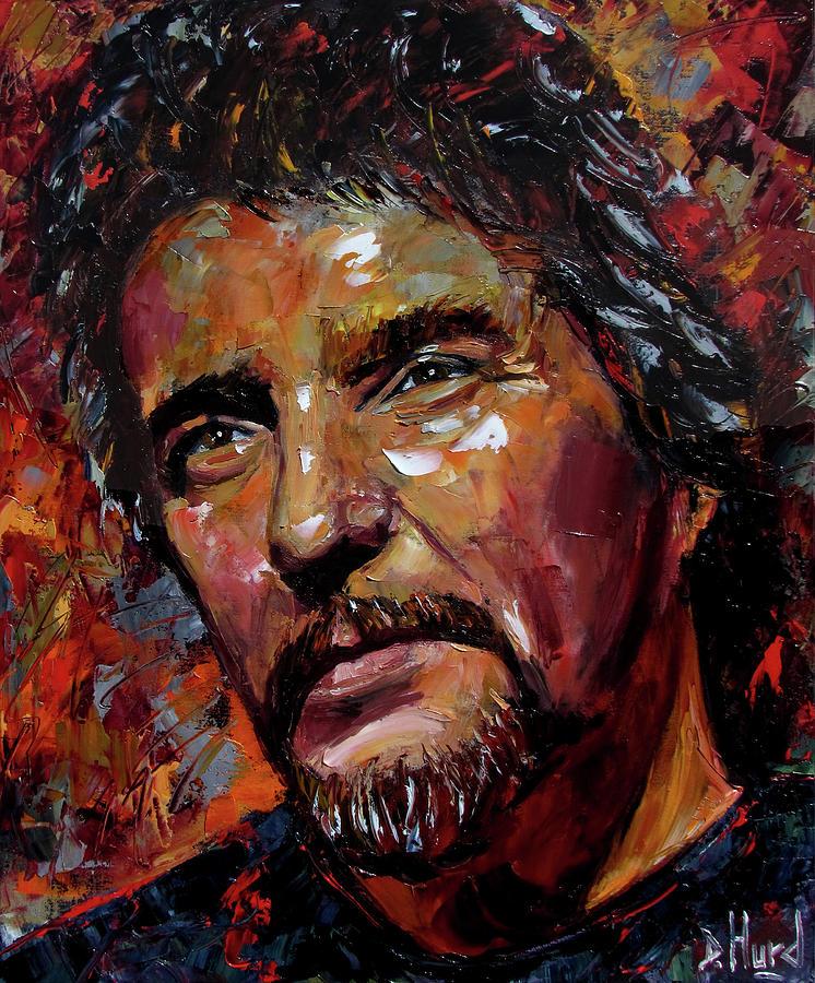Waylon Jennings Painting - Waylon by Debra Hurd