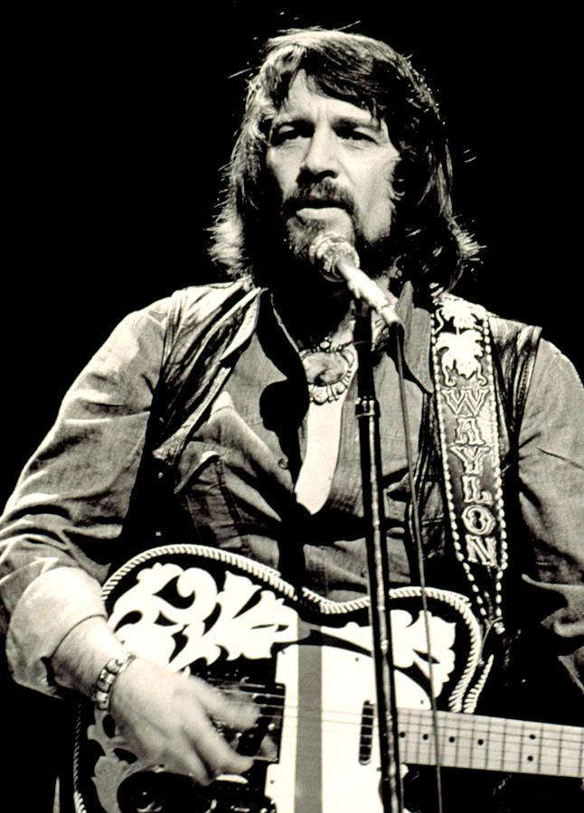 Beard Photograph - Waylon Jennings In Concert, C. 1976 by Everett