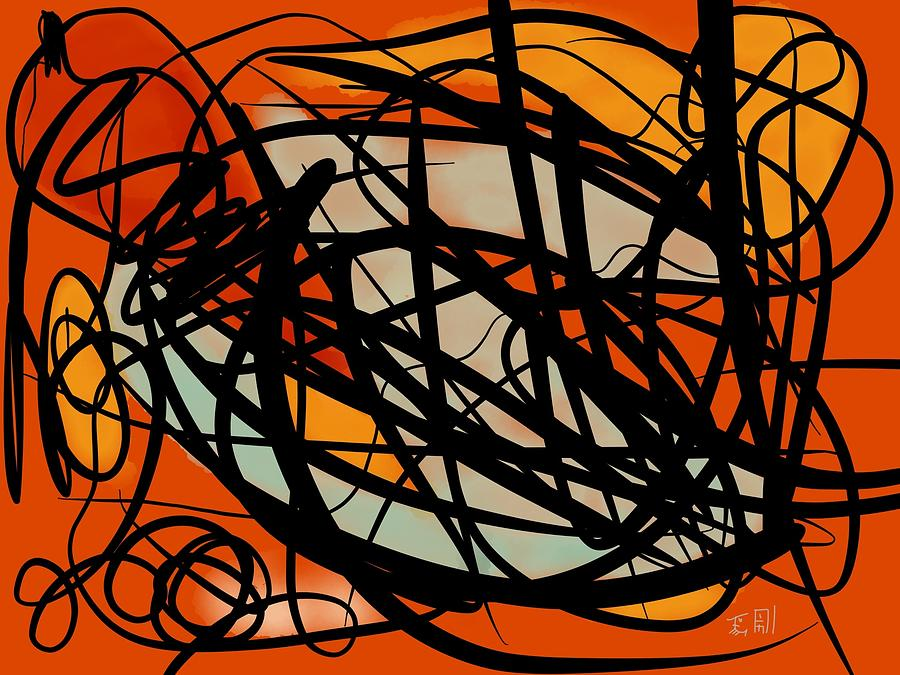 Lines Painting - Ways And Emotions #2 by Heritson Freire
