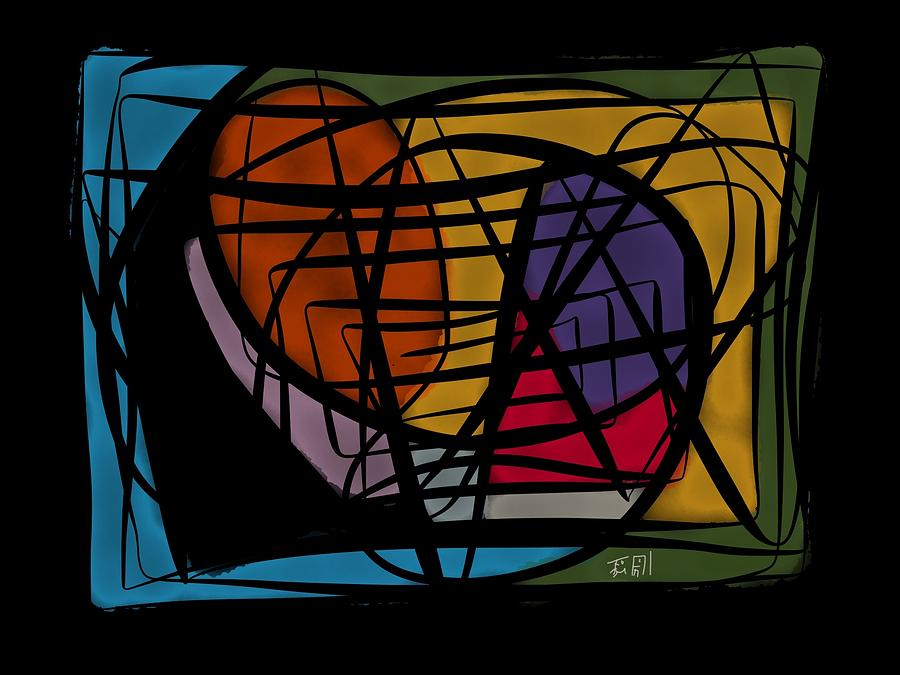 Lines Painting - Ways And Emotions by Heritson Freire