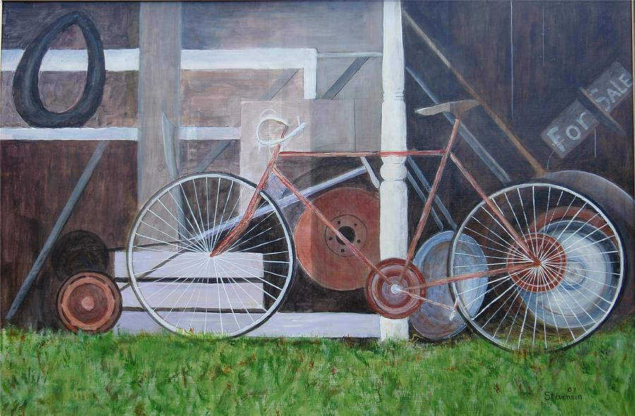 Bicycle Painting - Ways To Get Around by Joseph Stevenson
