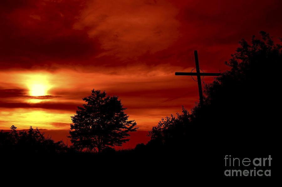 Landscape Photograph - Wayside Cross by Michal Boubin