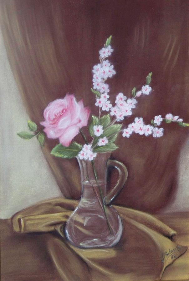 Wazon Z Kwiatami Painting by Justyna Pastuszka