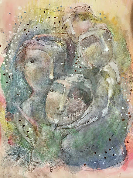 Whimsical Mixed Media - We Are All One by Eleatta Diver