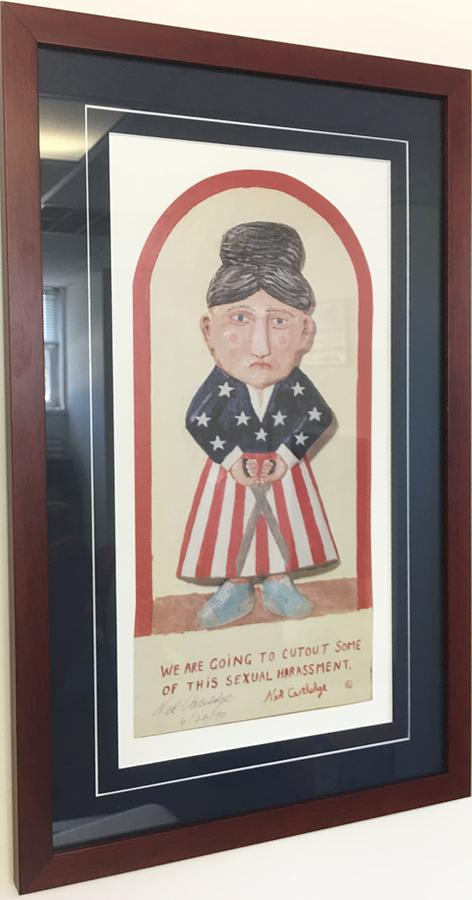 Americana Painting - We are going to cut out some of this sexual harassment by Ned Cartledge
