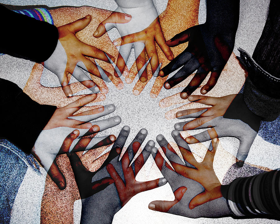 Hands Photograph - We Are One by Ellen Devenny