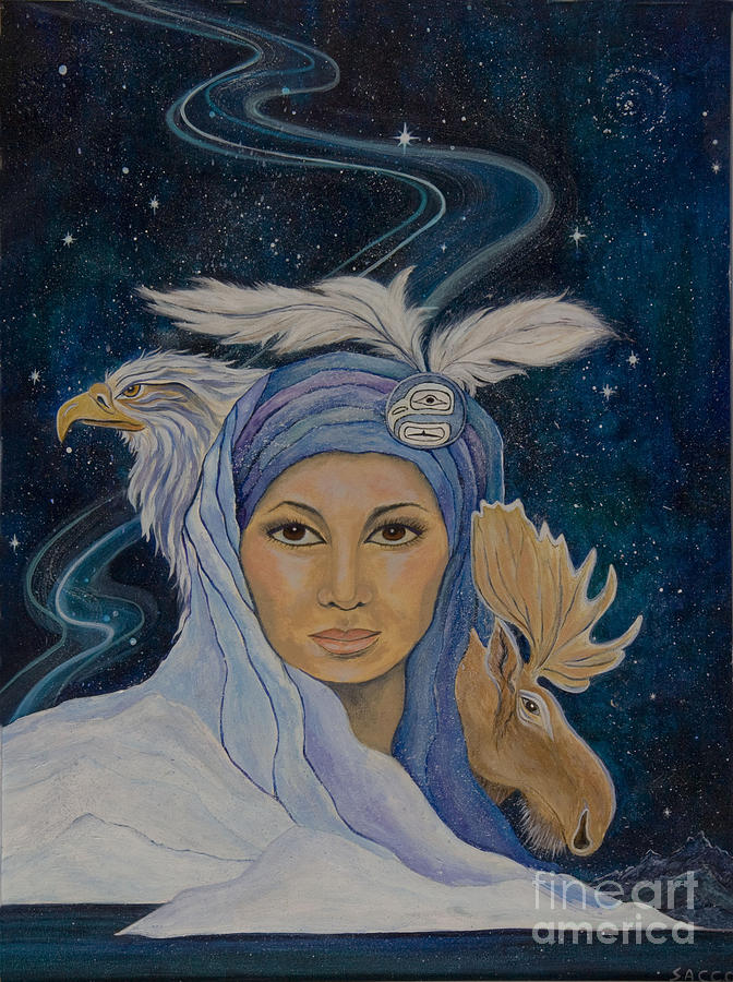 American Indian Painting - We Are One by Jeanette Sacco-Belli