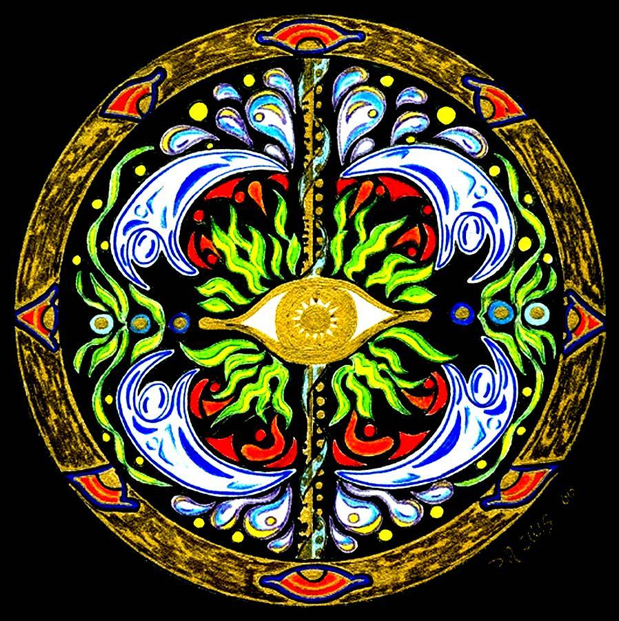 Mandala Painting - We Are Water by Pam Ellis