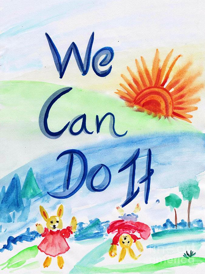 Wall Decor Painting - We Can Do It by Sweeping Girl