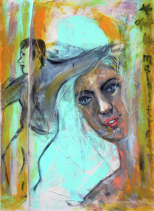 Portrait Painting - We Don T Like Mainstream by Regina Baumann