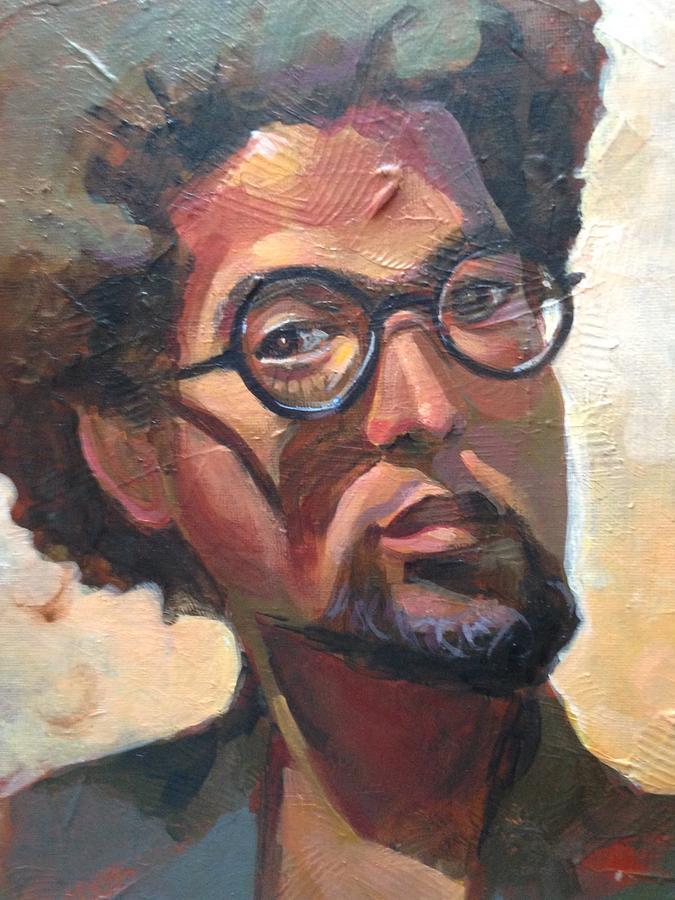Black Man Painting - We Dream by JaeMe Bereal