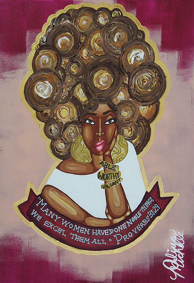 Black Lives Matter Painting - We Excel Them All by Aliya Michelle