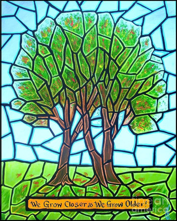 Aging Painting - We Grow Closer As We Grow Older by Jim Harris