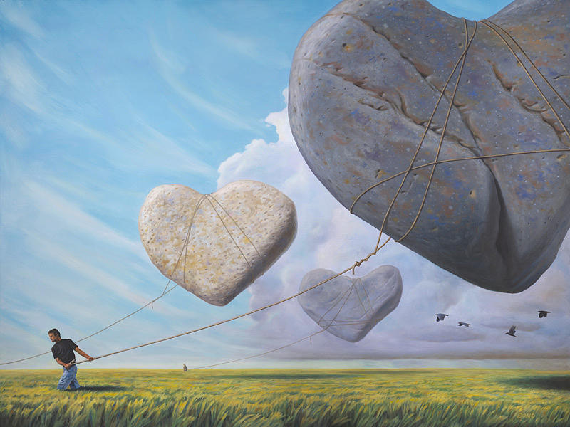Stones Painting - We Hoisted Our Dreams Into The Light Of Another Sun by Paul Bond
