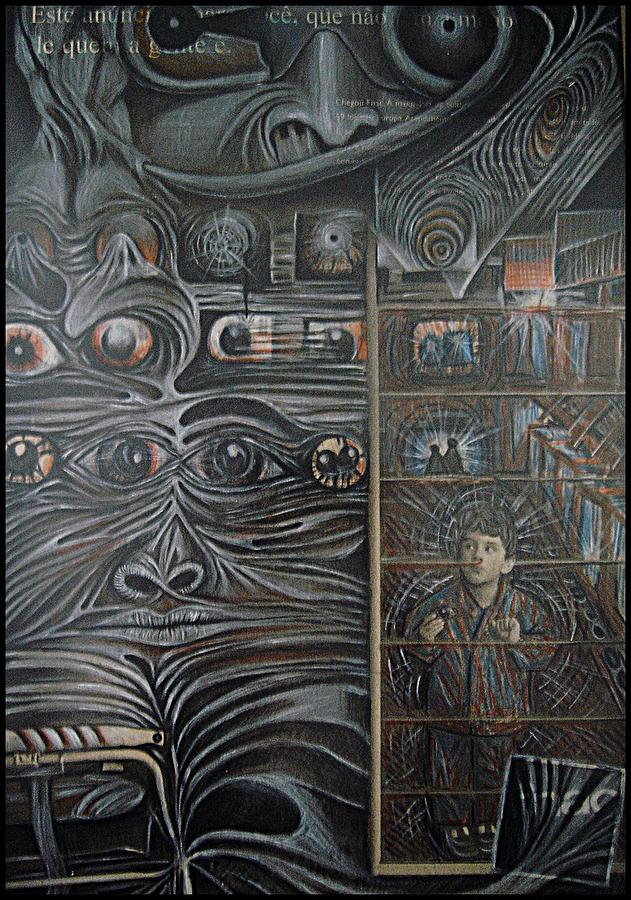 Machines Painting - We Observed All The Time by Paulo Zerbato