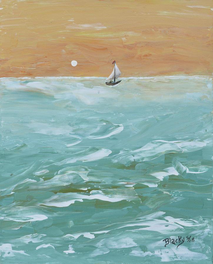 We Sail At Dawn Painting by Donna Blackhall