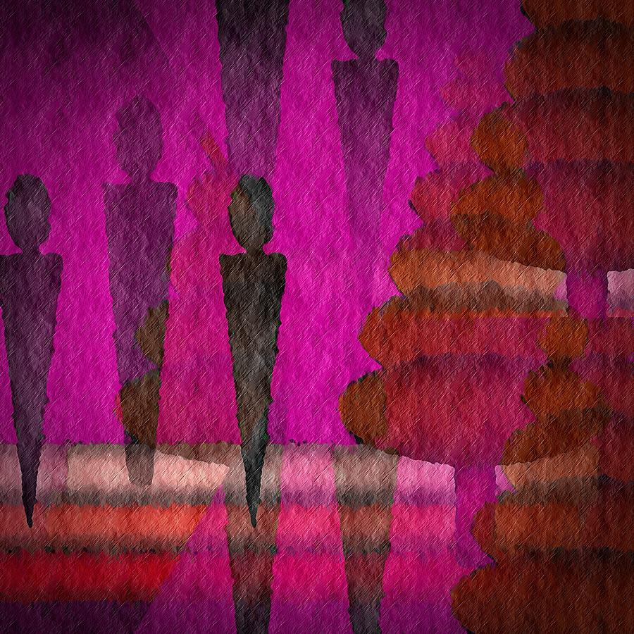 Man Digital Art - We Stand In The Shadows by Terry Mulligan