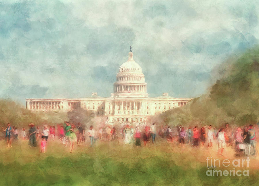 Washington Dc Digital Art - We The People by Lois Bryan