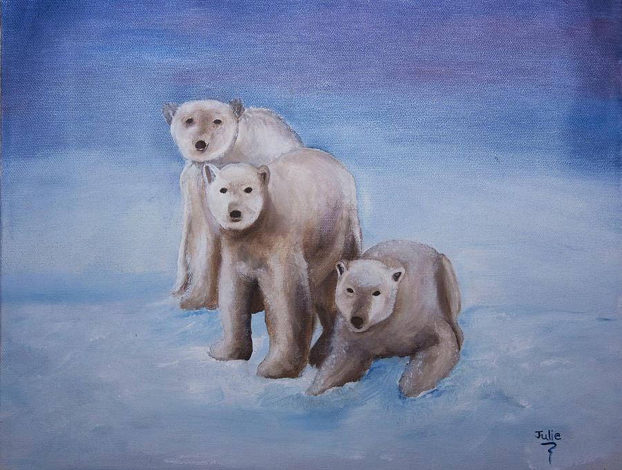 Arctic Painting - We Three Polars by Julie Gerber