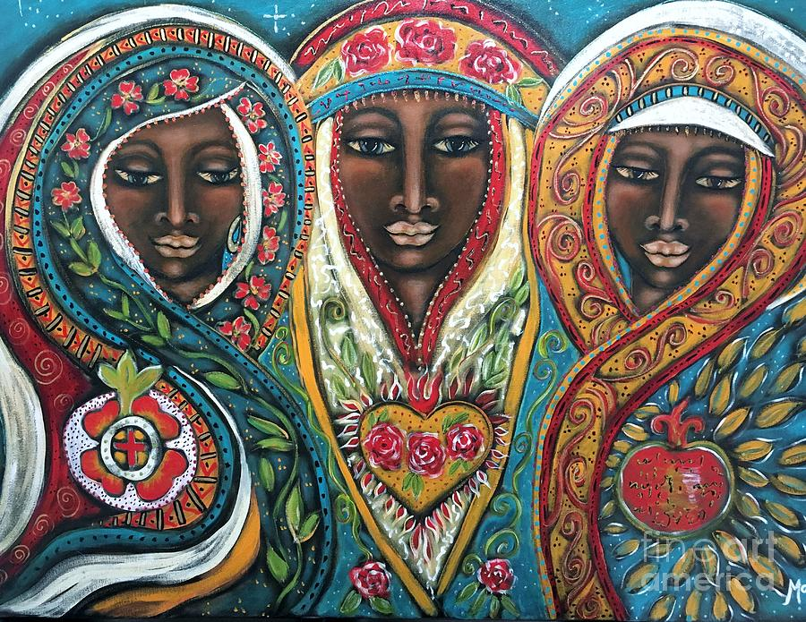 Goddess Painting - We Three Queens Of Orient Are by Maya Telford