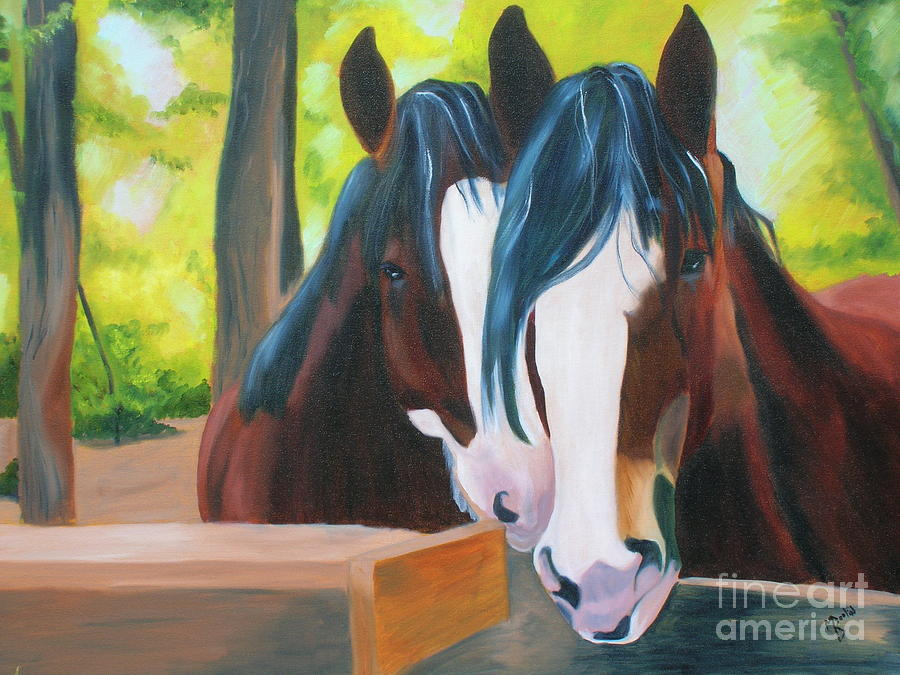 Horses Painting - We Two by Michele Baggenstoss