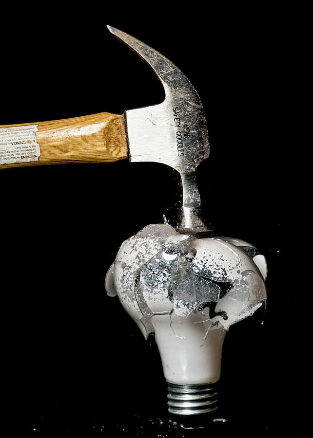 Hammer Photograph - Wear Safety Goggles by Emily Bristor