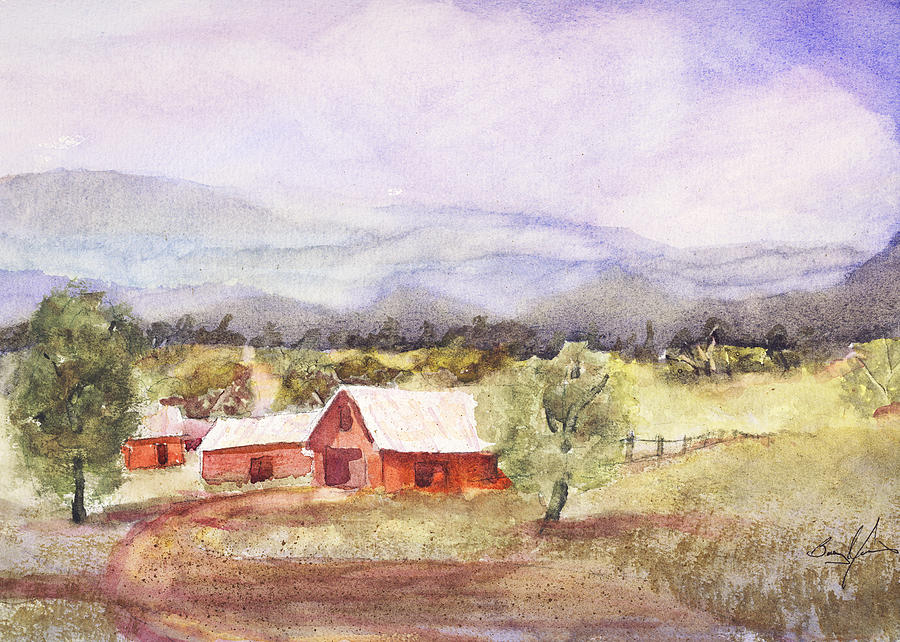 Watercolor Painting - Wears Valley 1 by Barry Jones