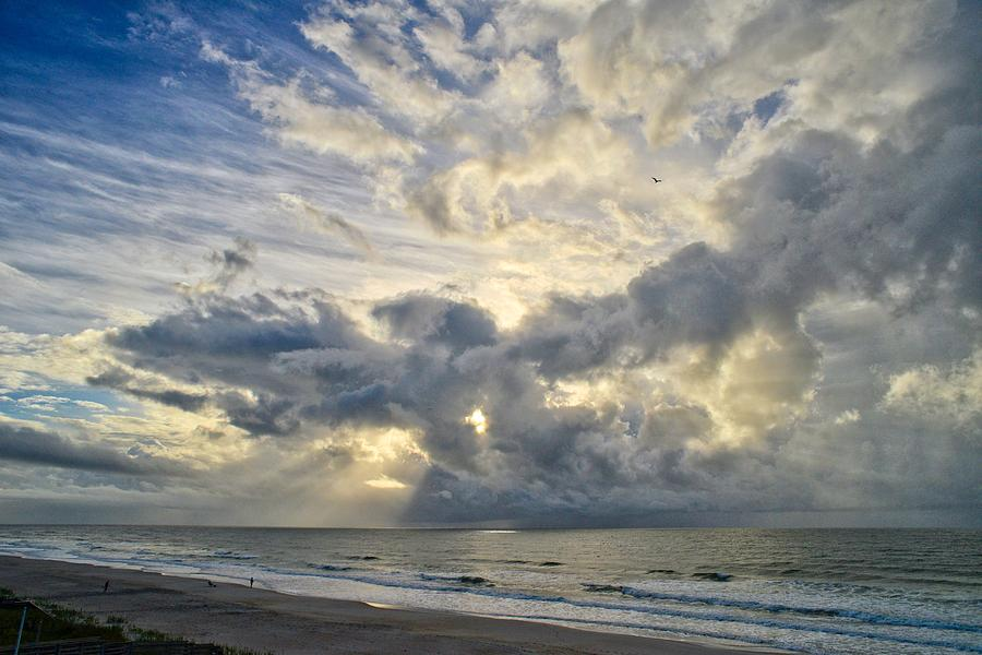 Weather Over Topsail Beach 2977 by Wesley Elsberry