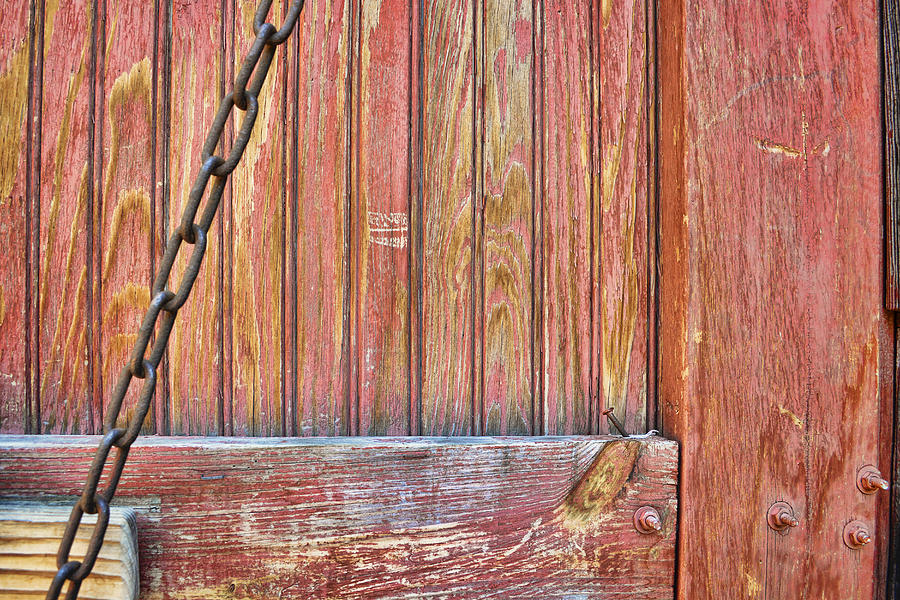 Weathered Barn Door Photography Photograph By Ann Powell