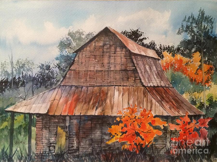 Barn Painting - Weathered Barn by Glen Ward