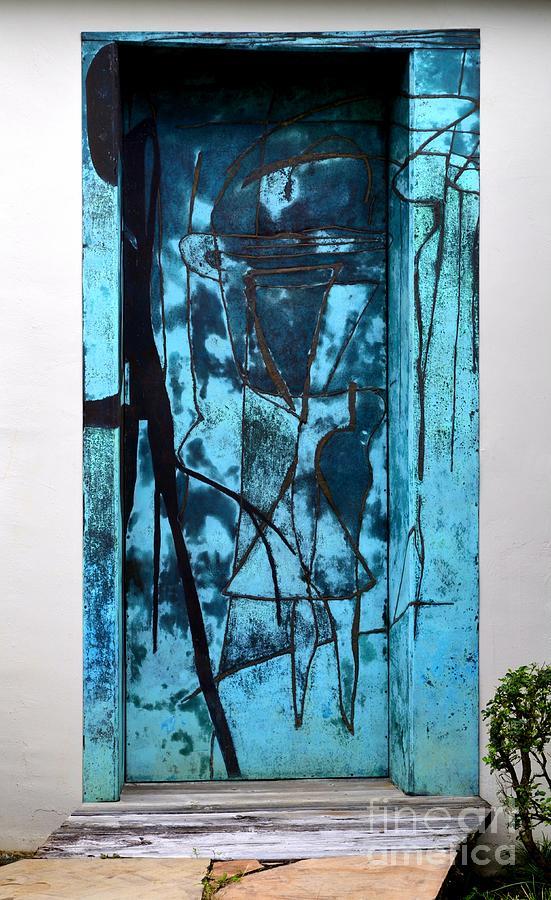 Weathered Bronze Doorway Photograph