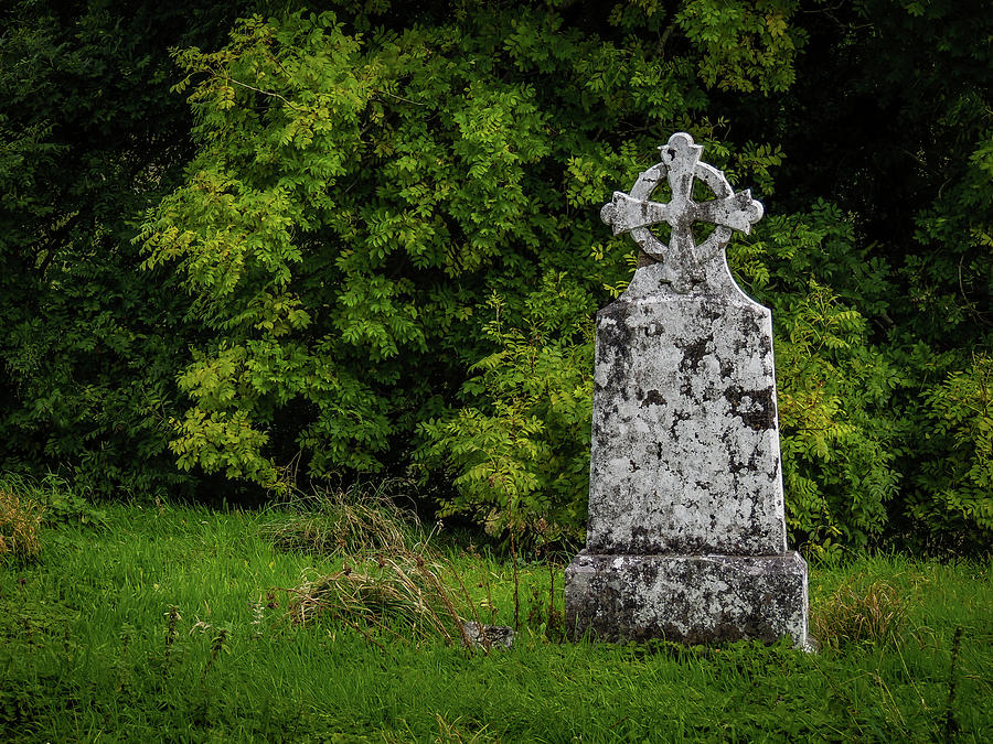 12th Century Photograph - Weathered Cross In Killone Abbey by James Truett