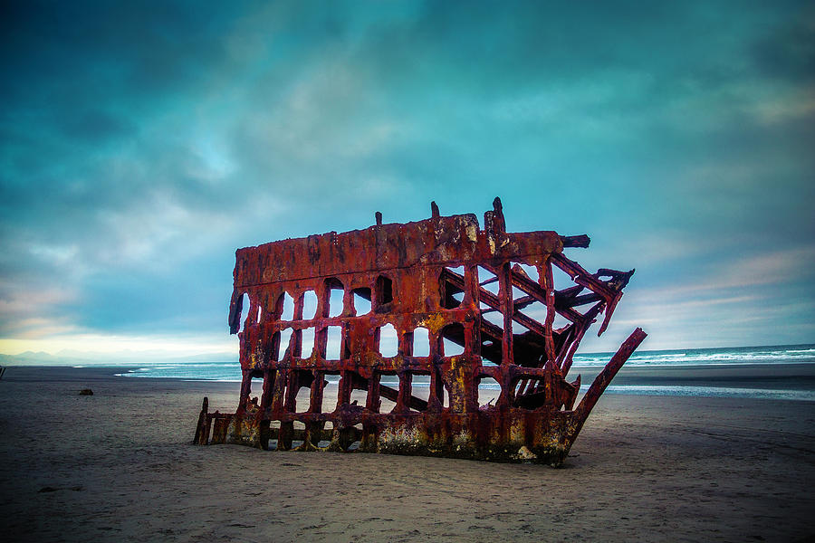 Rusty Photograph - Weathered Rusting Shipwreck by Garry Gay