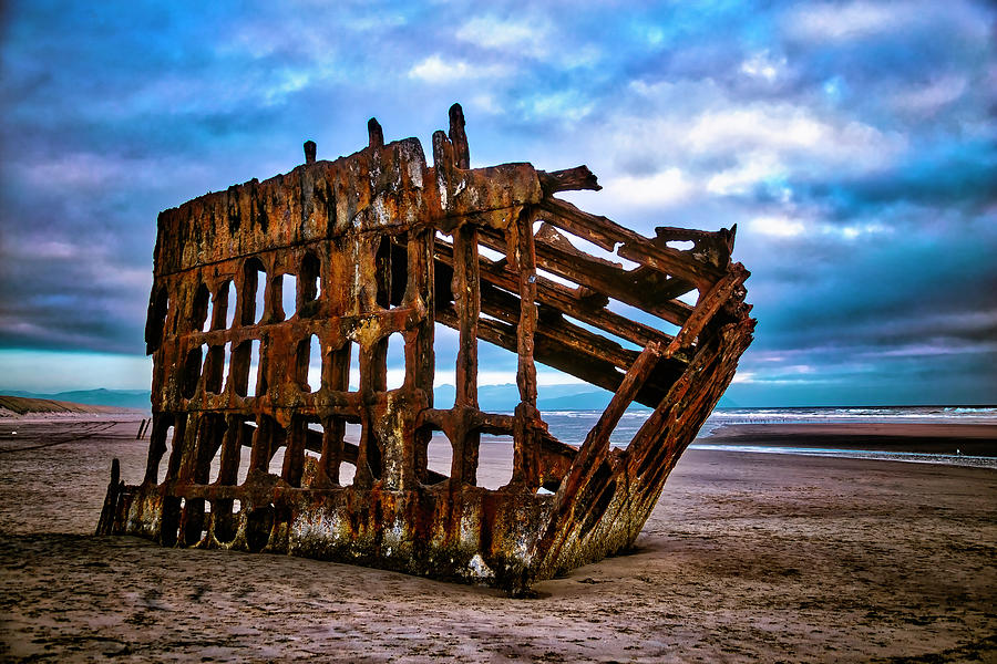 Rusty Photograph - Weathered Shipwreck by Garry Gay